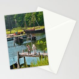 Old Viking Boats Stationery Cards