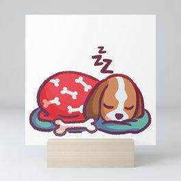 Sleep Tight Little Pup Mini Art Print