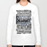 planet of the apes Long Sleeve T-shirts featuring DAWN OF THE PLANET OF THE APES by sokteulu