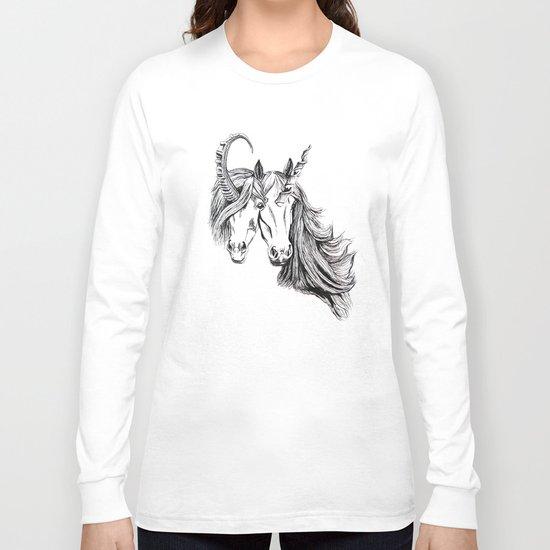Conjoined Unicorns Long Sleeve T-shirt