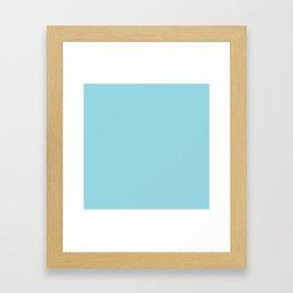 Solid Sky Blue Color Framed Art Print