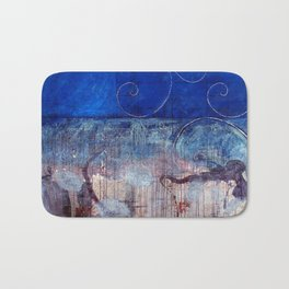 Chicxulub - Bluer version Bath Mat