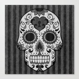 Día de los Muertos - Grey Canvas Print