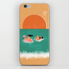 Vintage Swimming Girl iPhone Skin