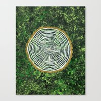 tree rings Canvas Prints featuring Tree Rings by Zoë Miller