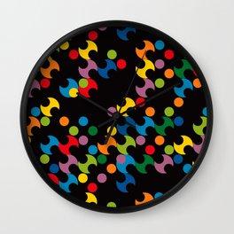 DOTS - polka 2 Wall Clock