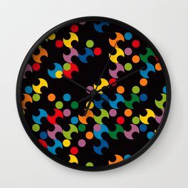 DOTS - polka 2 Wall Clock