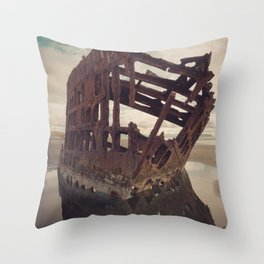 Shipwrecked - The Peter Iredale Throw Pillow