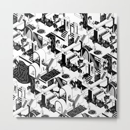 City Repeat Metal Print