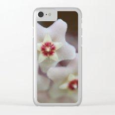 Hoya Flowers Clear iPhone Case