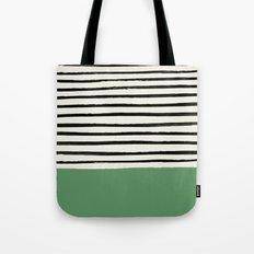 Moss Green x Stripes Tote Bag