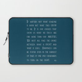 Dumbledore wise quotes Laptop Sleeve