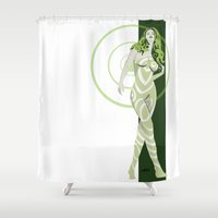 vertigo Shower Curtains featuring Vertigo by Andrew Formosa