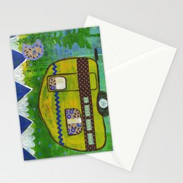 Vintage Camper Mountain Adventure Stationery Cards