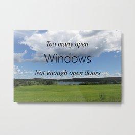 Too Many Windows Metal Print