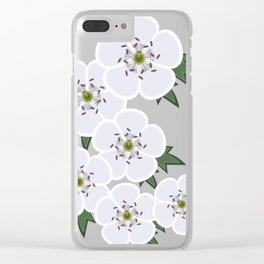 31/100: White Hawthorn Clear iPhone Case