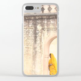 Amber Fort Woman Clear iPhone Case