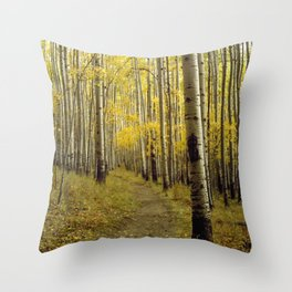 Beaconing Trail of Gold Throw Pillow