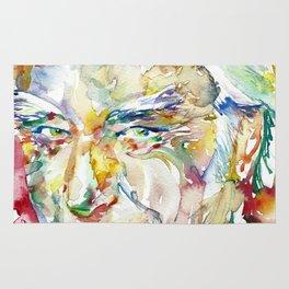 FRANCIS CRICK - watercolor portrait Rug