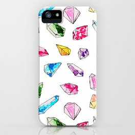 Watercolor Gem Stone  iPhone Case