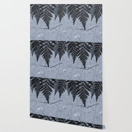 Fern fringe II - concrete Wallpaper