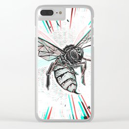 This wasp is pissed! Clear iPhone Case