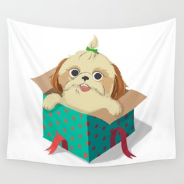 Little Dog Wall Tapestry