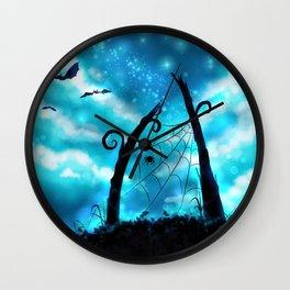 Spider's Enchanted Night Wall Clock