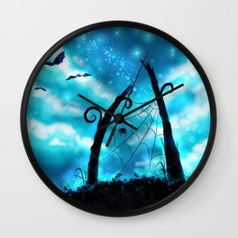 Spider's Enchanted Night Wall Clock