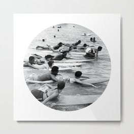 Group Surfers Metal Print