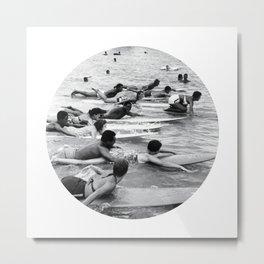 Group Surfers Metal Print