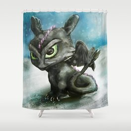 Hatchling Fury Shower Curtain
