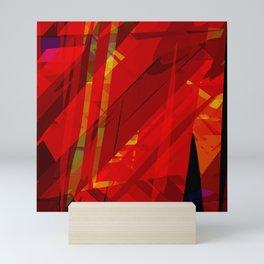 red spiky Mini Art Print