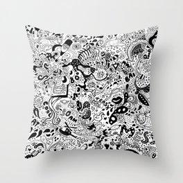 cute graphite Throw Pillow