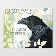 Feeling Fab Raven Canvas Print