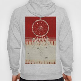 ARETERSTING V50 - Original Red Bohemian Moroccan Artwork Hoody