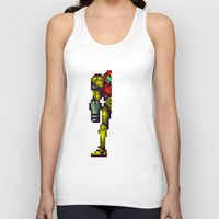 metroid Tank Tops featuring Metroid by Slippytee Clothing