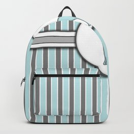Giraffe on Blue Stripes Pattern Design Backpack