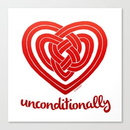 UNCONDITIONALLY in red Canvas Print