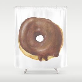 Chocolate Iced Doughnut Shower Curtain