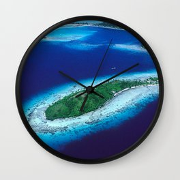 South Pacific Romantic, Remote Island In French Polynesia Wall Clock