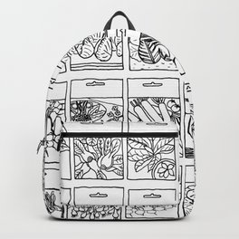 Veggie Seeds Patten - Line Art Backpack