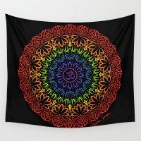 namaste Wall Tapestries featuring Namaste Mandala by artsytoocreations