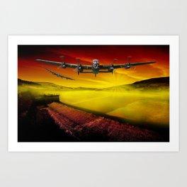 Lancasters over Woodhead Art Print