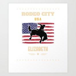RODEO CITY USA, ELIZABETH  Art Print