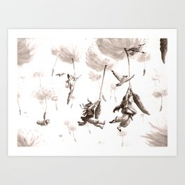 Dandelion Flyers Art Print