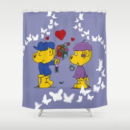 Ferald & Sahsha Ferret Shower Curtain