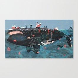 A Right Whale Canvas Print