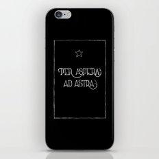 Per Aspera Ad Astra (black) iPhone & iPod Skin