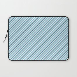 Sky Blue Strong Inclined Stripes Laptop Sleeve